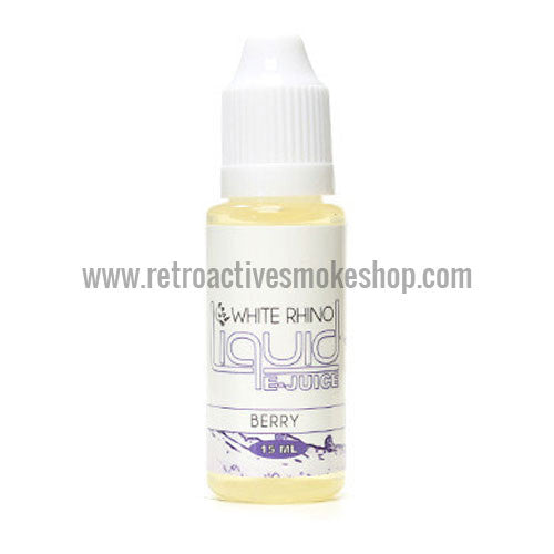 [product type] - (CLEARANCE) White Rhino E-Liquid Berries - 15ml - 12mg/ml - Retro Active Smoke Shop