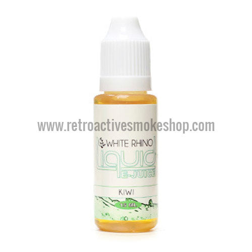 [product type] - (CLEARANCE) White Rhino E-Liquid Kiwi - 15ml - 12mg/ml - Retro Active Smoke Shop