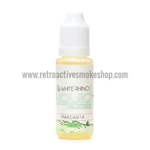 [product type] - (CLEARANCE) White Rhino E-Liquid Margarita - 15ml - 0mg/ml - Retro Active Smoke Shop