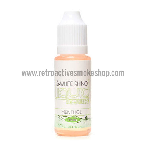[product type] - (CLEARANCE) White Rhino 10ml E-Liquid Bottle - 0mg/ml - Menthol - Retro Active Smoke Shop