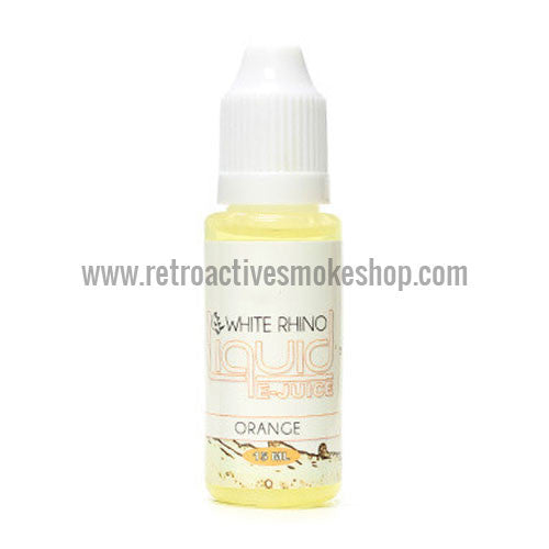 (CLEARANCE) White Rhino E-Liquid Orange - 15ml - 24mg/ml - Retro Active Smoke Shop