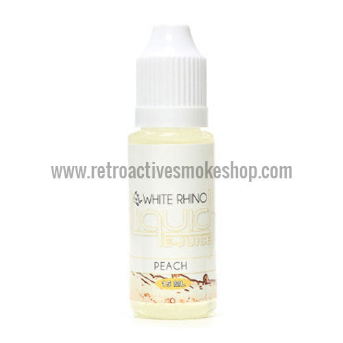 (CLEARANCE) White Rhino E-Liquid Peach - 15ml - 0mg/ml - Retro Active Smoke Shop