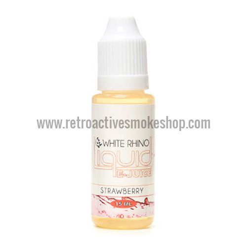 (CLEARANCE) White Rhino E-Liquid Strawberry - 15ml - 0mg/ml - Retro Active Smoke Shop