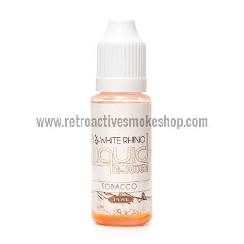[product type] - (CLEARANCE) White Rhino 10ml E-Liquid Bottle - 0mg/ml - Tobacco - Retro Active Smoke Shop
