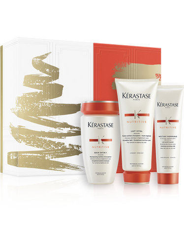 THE GIFT OF INTENSE HAIR NOURISHMENT. Nourishing hair care routine for d... click for more information