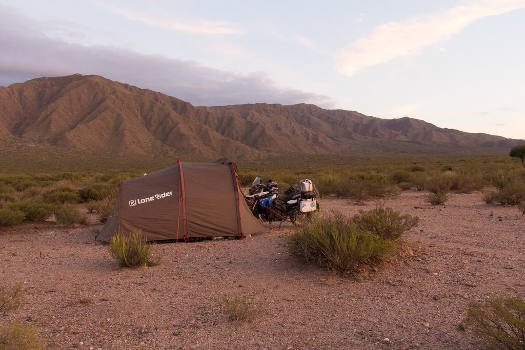 TOP 10 ESSENTIALS OF ADV GEAR & MINDSETS | CAMPING ON THE TRAIL - photo by Lone Rider MotoTent v2 customer