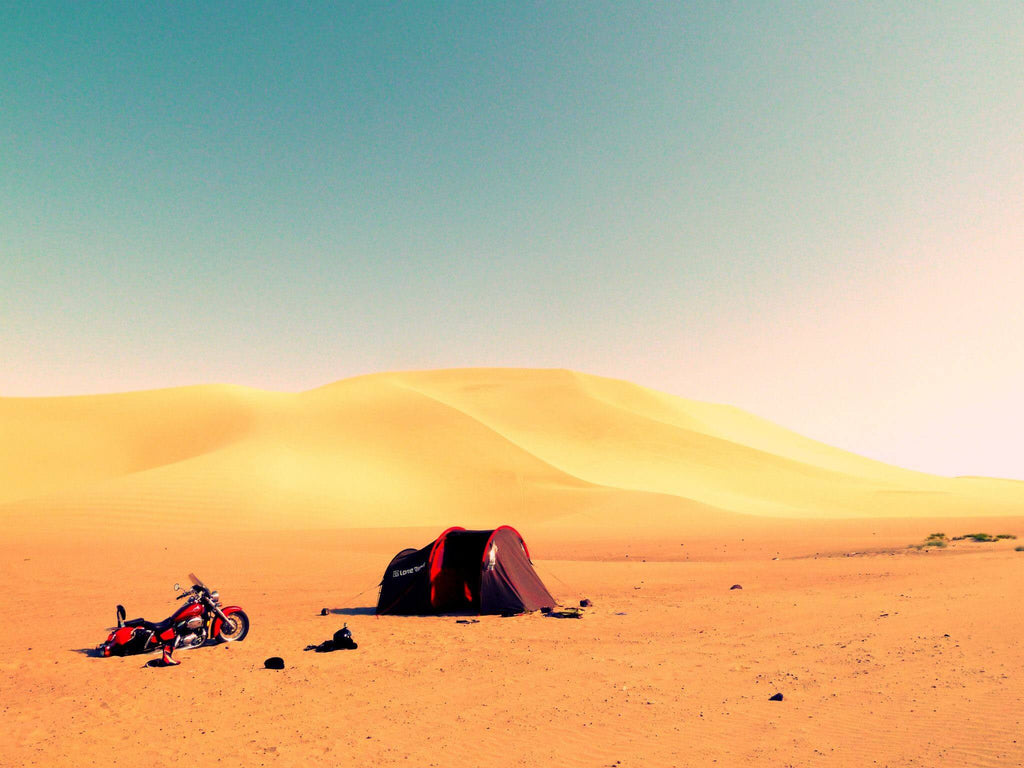 Top Ten Motorcycle Camping Mistakes- photo by Lone Rider MotoTent v2 customer