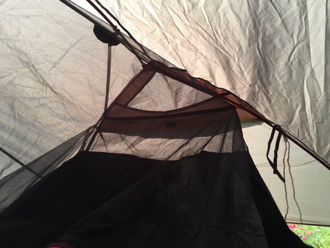 Adv Motorcycle tent - attach the inner tent end clips