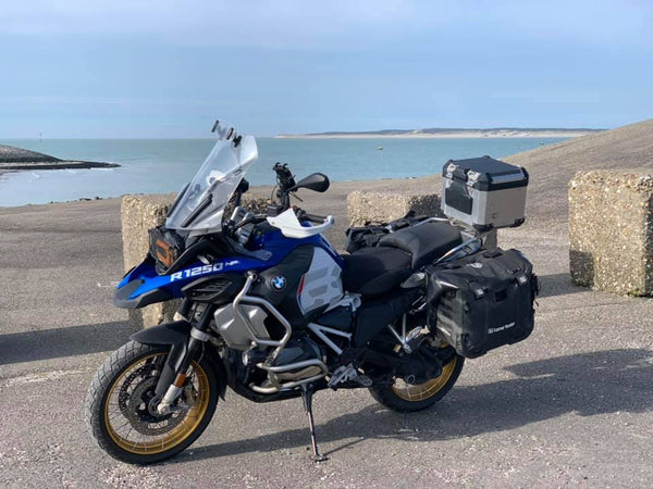BMW GS Caoutchouc VELO Protections R1200GS R1250GS Full set-top box /& sacoches!