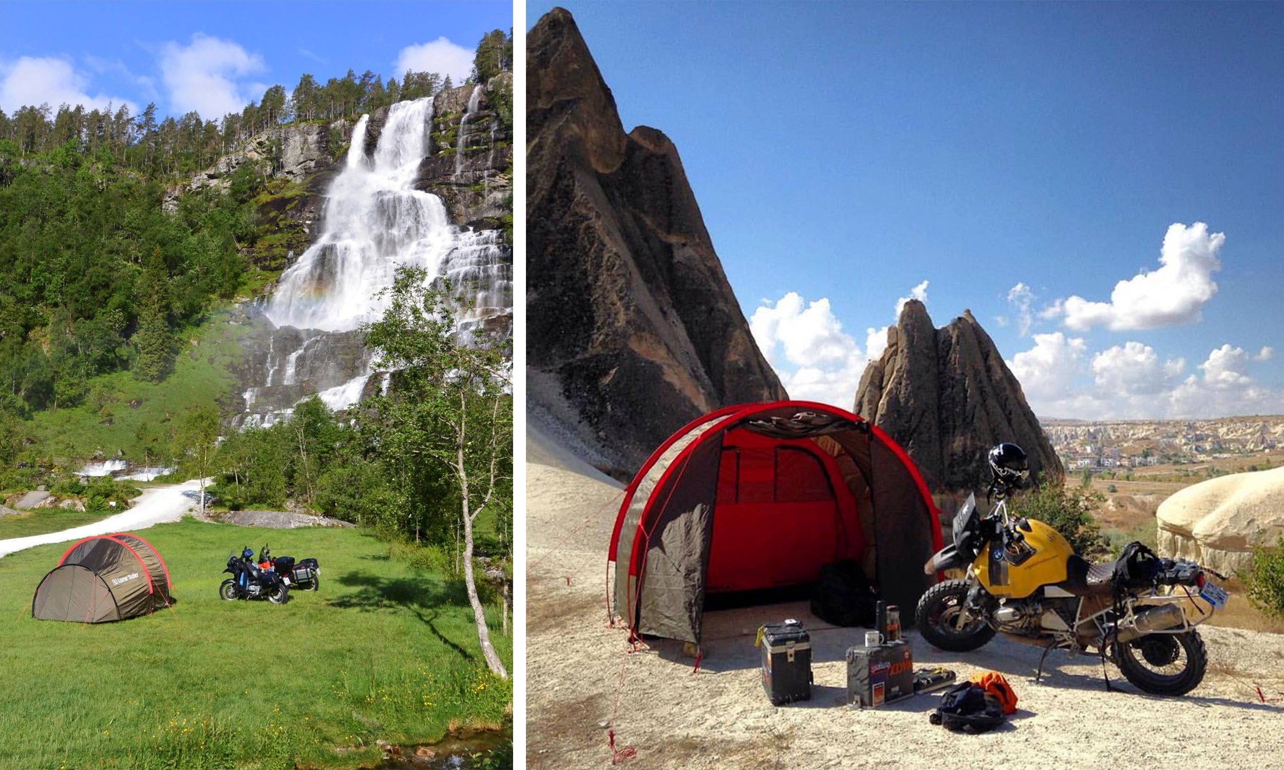 How to Choose A Motorcycle Campsite - photo by Lone Rider MotoTent v2 customer