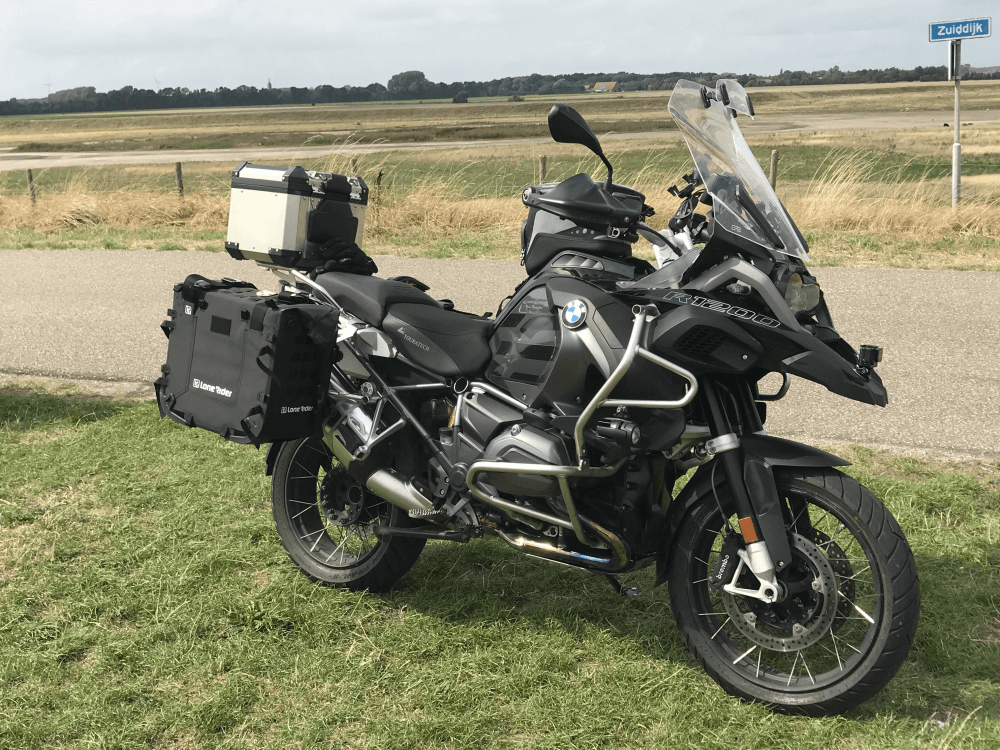 Lone Rider Motorcycle Bags MotoBags mounted on BMW GSA