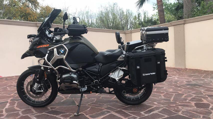 Lone Rider Motorcycle Bags MotoBags mounted on BMW GS