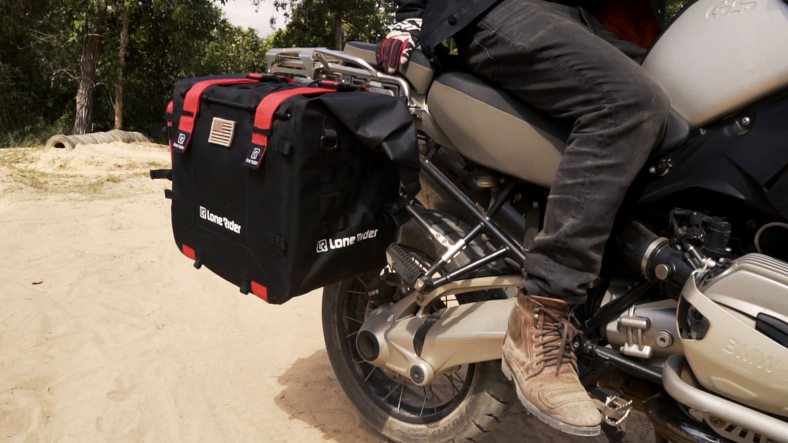 Lone Rider racks for MotoBags - semi-rigid motorcycle bags