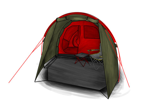 Light The strong tunnel design and high-quality material gives you full protection but weighs only 12 pounds. This is the lightest tent with a motorcycle ...  sc 1 th 189 & groundsheet_02_large.jpg?13950781468516914931