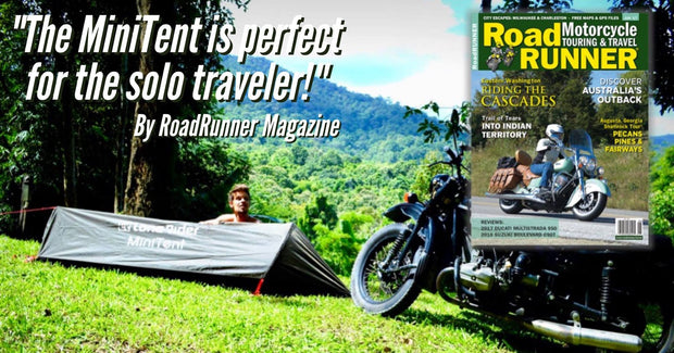 MiniTent - motorcycle tent perfect for solo camping by Lone Rider