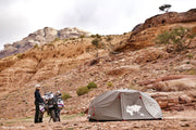Travel on BMW 800 GS with lightweight ADV Tent by Lone Rider