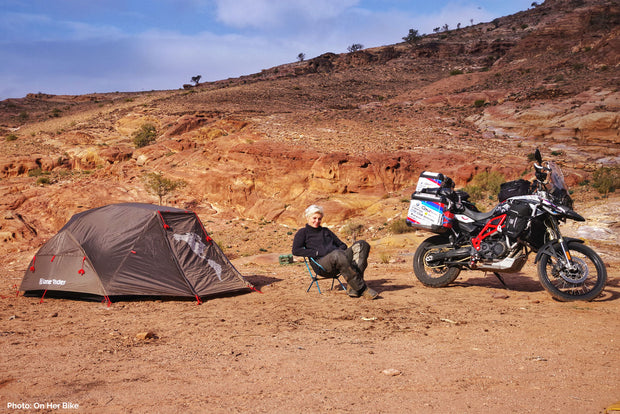 Two person ADV Tent travel on BMW 800 GS