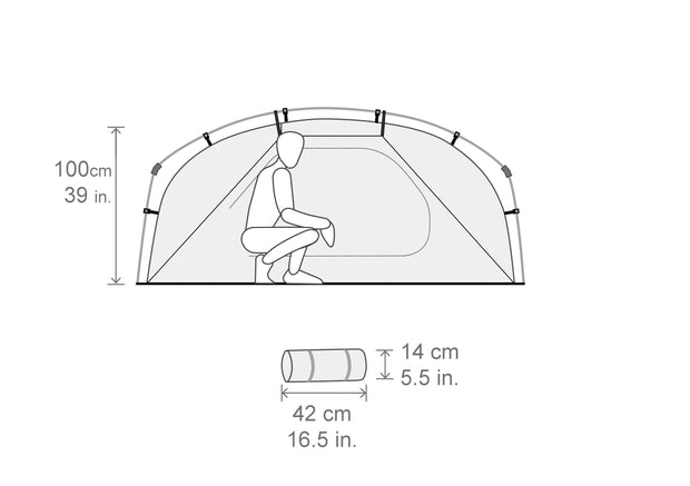 Spacious two person tent