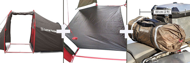 MotoTent - Motorcycle Tent with full floor by Lone Rider
