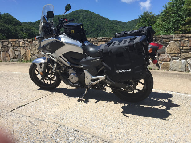MotoBags black straps on Honda NC700X
