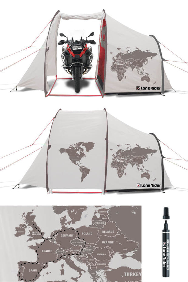 Outside Tent for MotoTent World Map