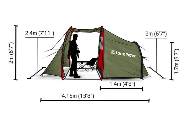 MotoTent - two person Motorcycle Tent where you can stand by Lone Rider