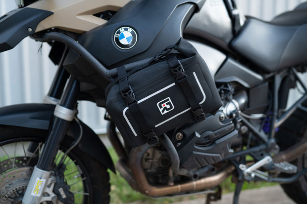 Mini dry Bag on BMW GS crash bars