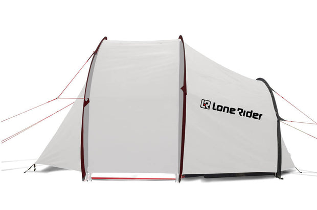 Motorcycle camping tent for hot weather