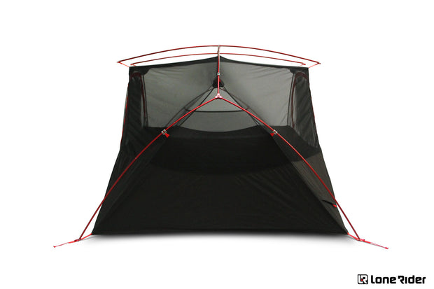 Motorcycle tent ADVtent Lone Rider 2 person tent side image of inner tent