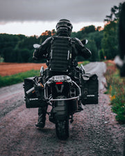 Overlander motorcycle bag on BMW R1200GS