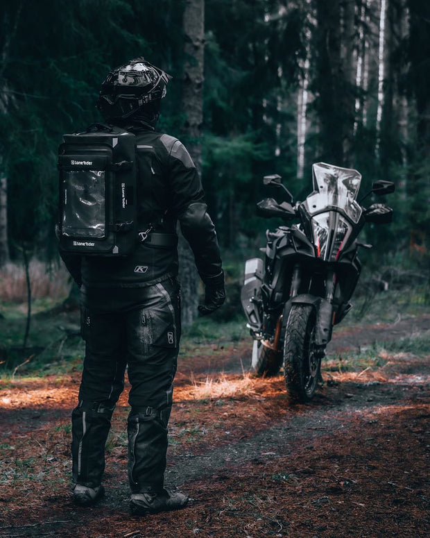 Overlander Motorcycle bag as backpack