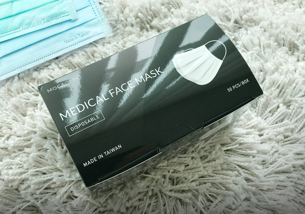 MOCACARE Disposable Face Mask | 50 PCS/BOX, Made in Taiwan