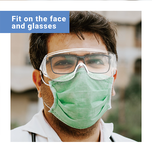 [ MIT ] Safety Glasses Over Glasses Goggles Protective Eyewear for Work - Anti Fog Shooting Glasses Eye Protection with Clear Vision