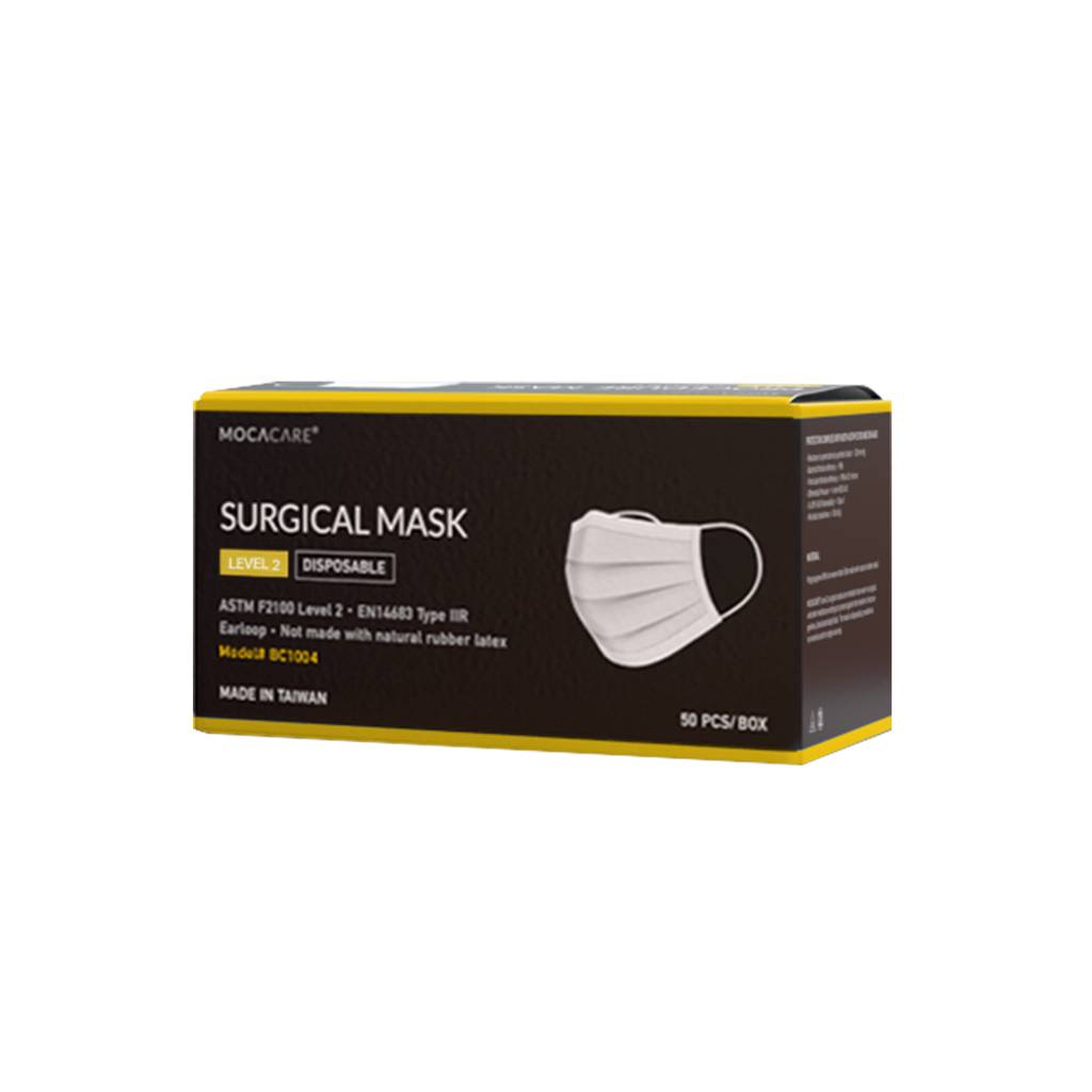Mocacare ASTM Level 2 Mask, made in Taiwan, 50PC/Box