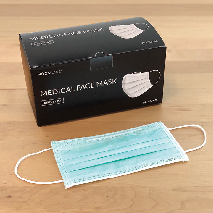 MOCACARE Face Mask | 50 PCS/BOX, Medical Grade, Made in Taiwan