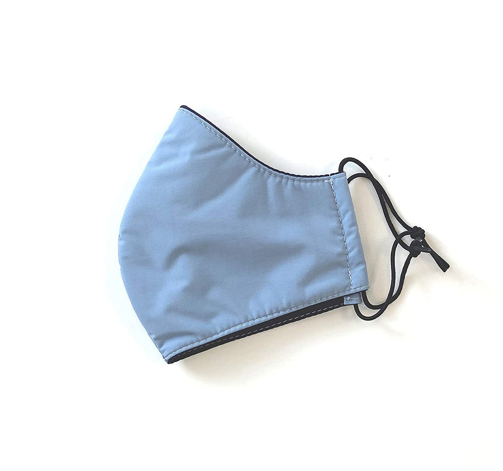 Washable cloth mask - icy blue color, Made in Taiwan