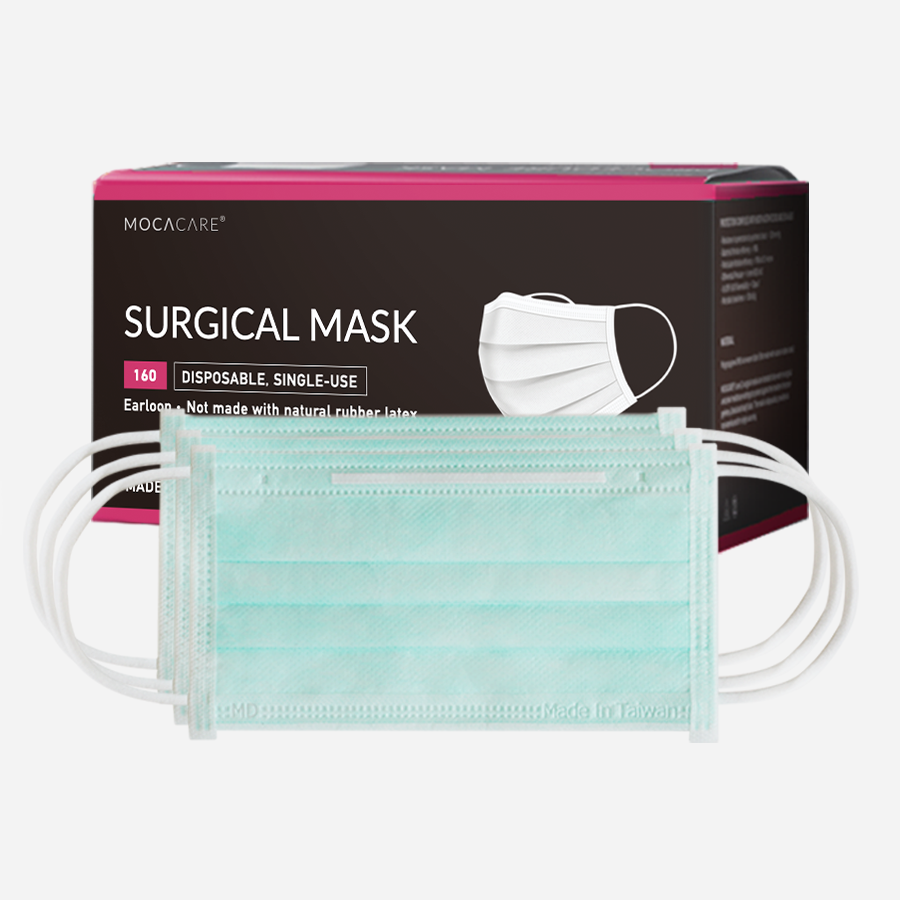 Mocacare Mask 160, ASTM Level 3, made in Taiwan, 50PC/Box