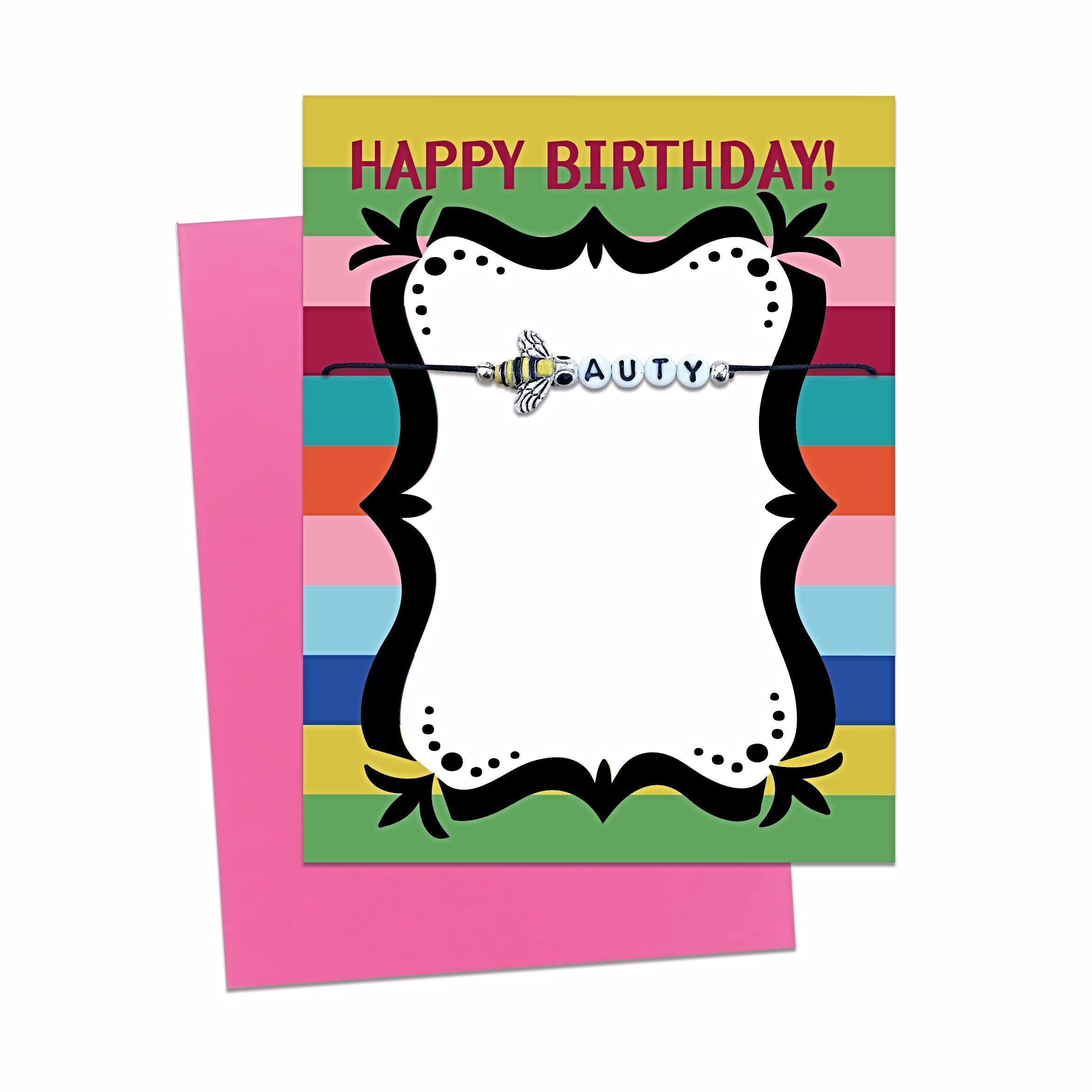 Unique Birthday Cards With Message Bracelet Gift Free Shipping