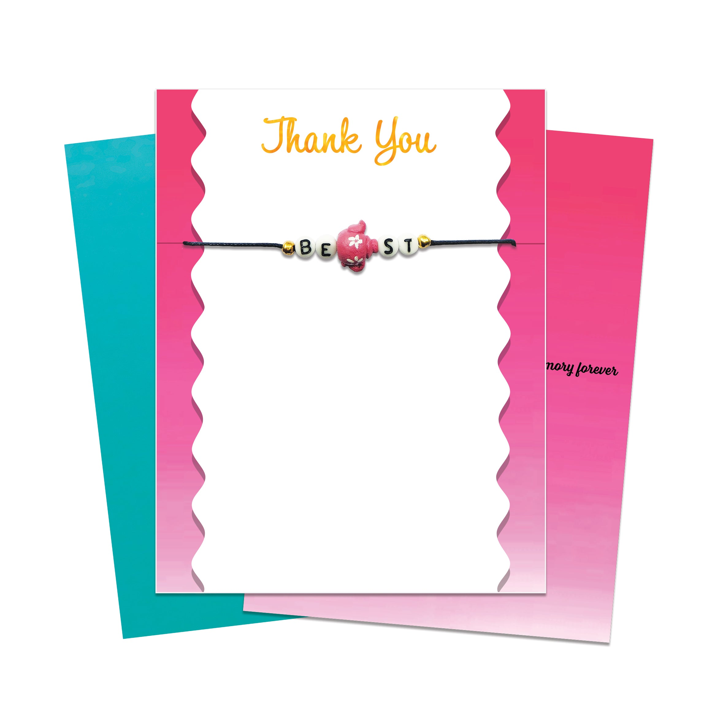 Unique Greeting Card With Message Bracelet Gift Free Shipping