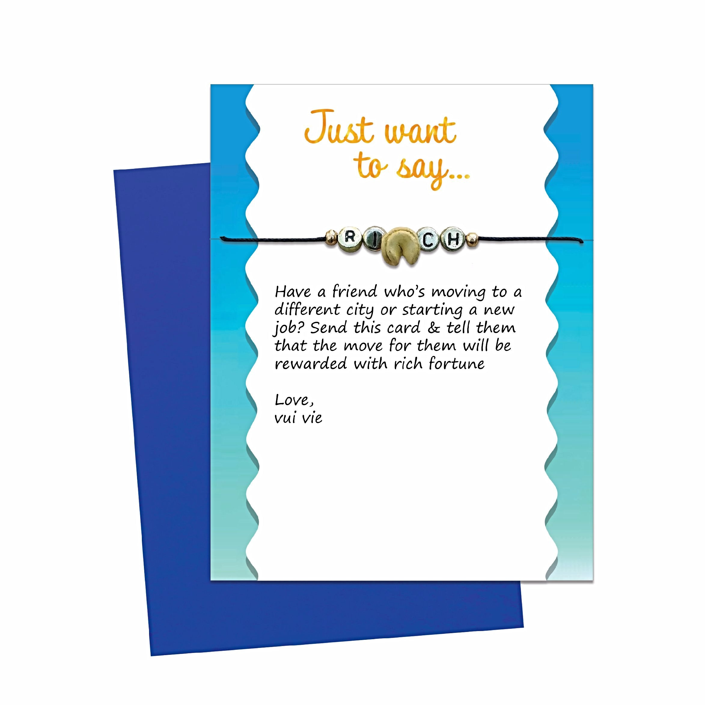 Fortune Cookie Card With Message Bracelet Gift Free Shipping