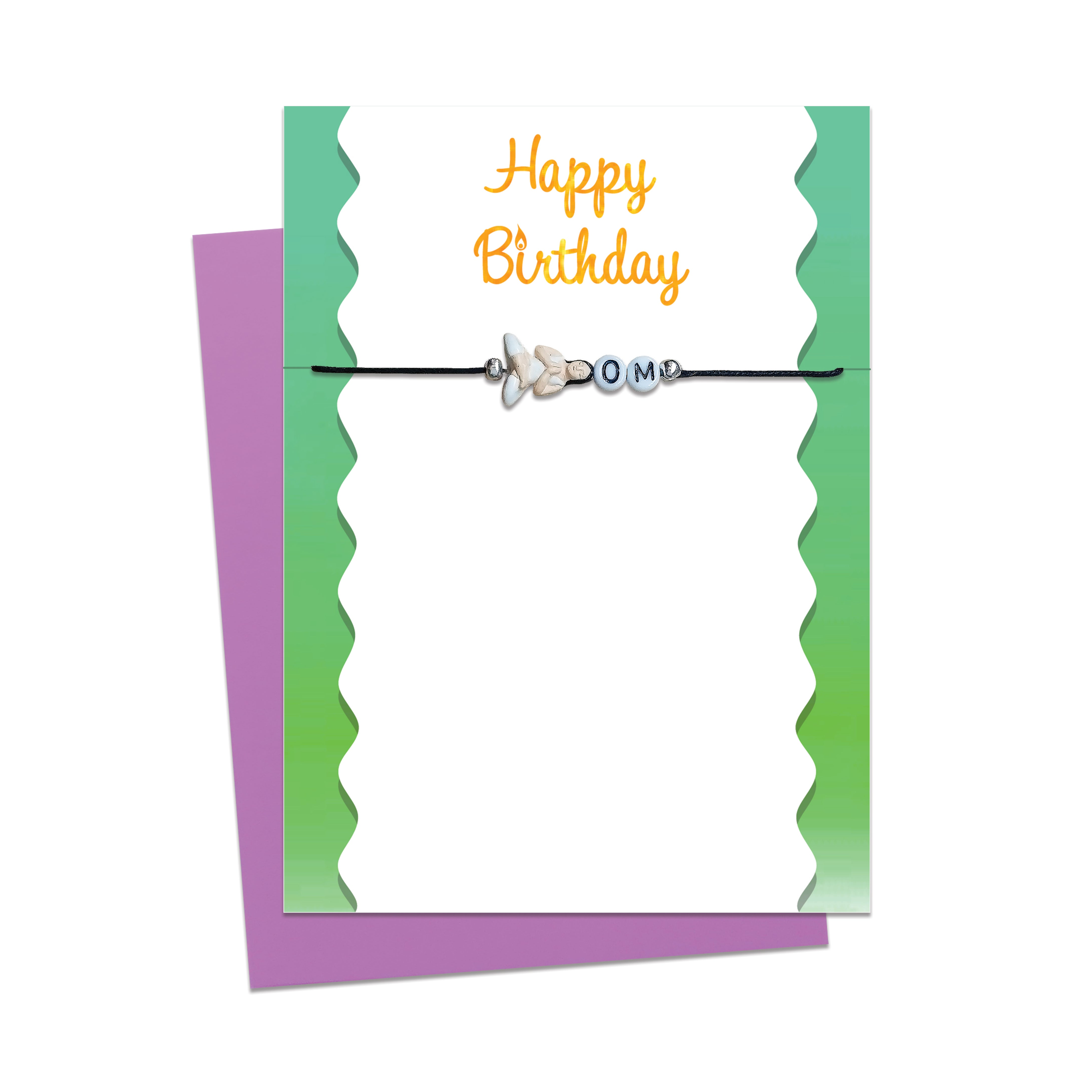 Yoga Birthday Card with Message Bracelet Gift Free Shipping Vui Vie