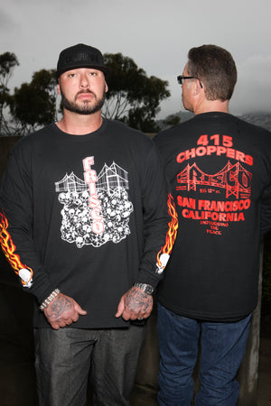 Skulls & Bridge Long Sleeve
