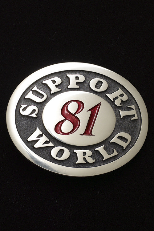 Support World Belt Buckle