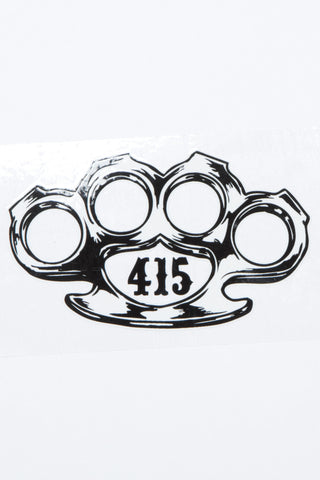 Brass Knuckle Sticker