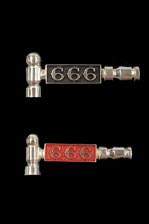 666 Sterling Silver Hammer Pin