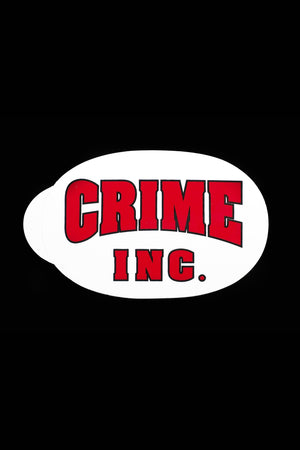 Crime Inc. Oval Sticker