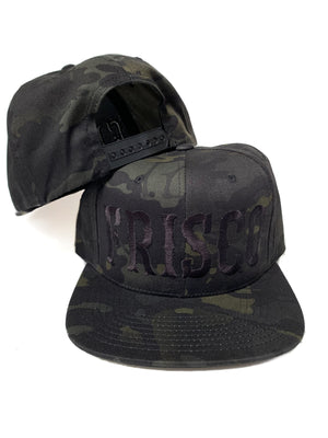 Black Camo Frisco Snap back Hat