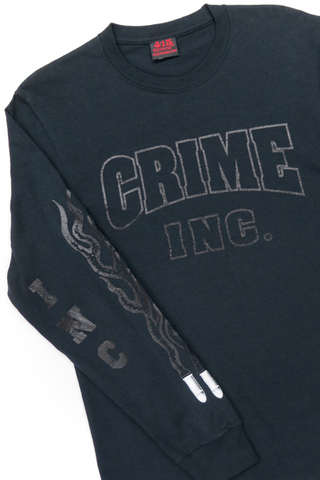 Crime Inc. Black on Black Men's Long Sleeve