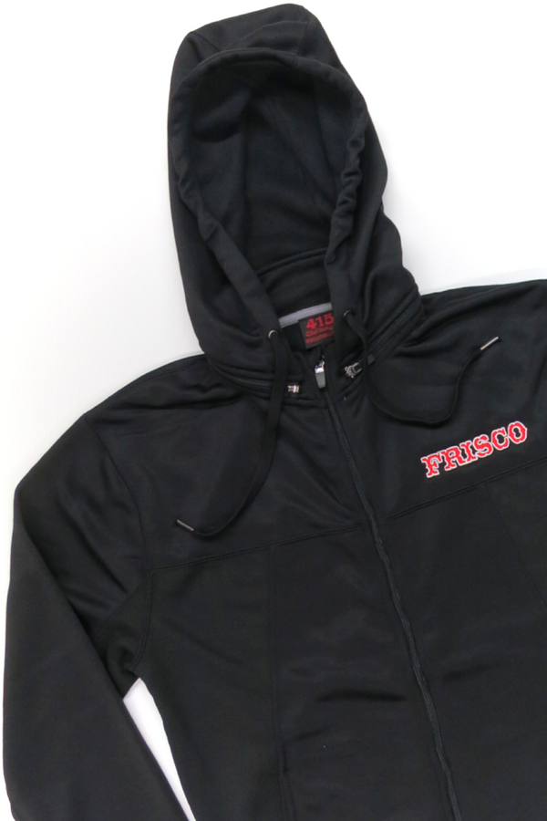Frisco Hooded Zipper Sweatshirt with Removable Hood