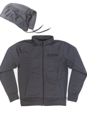California Hooded Zipper Sweatshirt with Removable Hood